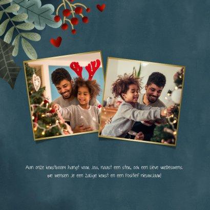 Hippe kerstkaart grote foto, kerstkader 'Fijne Feestdagen' 2