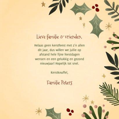 Hippe kerstkaart kersttakjes kader gouden Merry Christmas 3