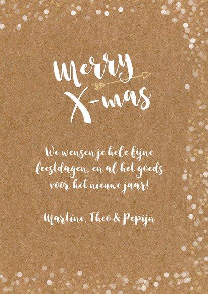 Hippe kerstkaart met grote eigen foto en confetti kader  3