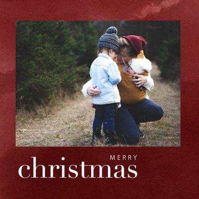 Hippe kerstkaart met waterverf en merry christmas 2