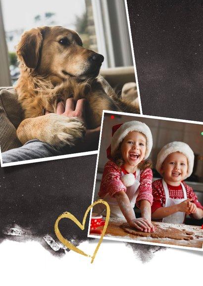 Hippe nieuwjaarskaart fotocollage polaroids met jaartal 2021 2