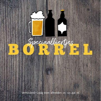 Hippe Uitnodiging Houtlook speciaal biertjes borrel 2