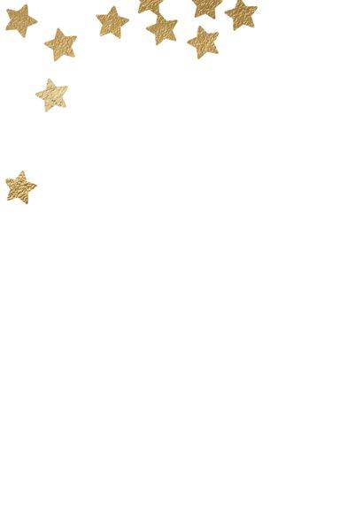 Hippe uitnodiging kerstborrel sterren confetti 2