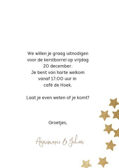 Hippe uitnodiging kerstborrel sterren confetti 3