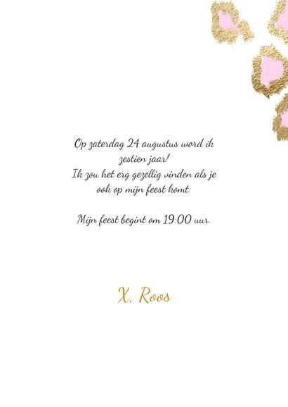 Hippe uitnodiging meisje sweet sixteen ballonnen 3