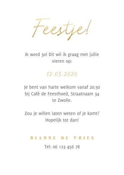 Hippe uitnodiging verjaardag panterprint, foto en 'feestje' 3
