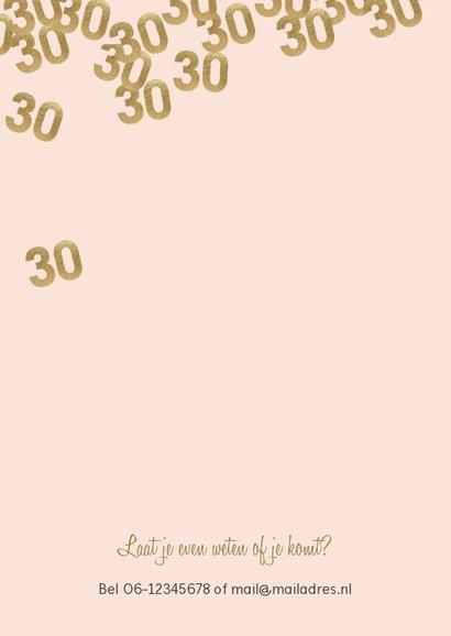 Hippe uitnodiging verjaardag vrouw 30 confetti 2