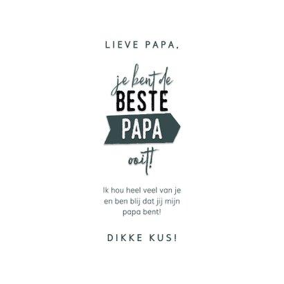 Hippe vaderdag kaart 'Je bent de beste papa ooit!' & hartjes 3