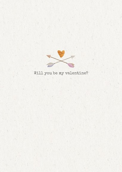 Hippe valentijnskaart met koperen hartje 3