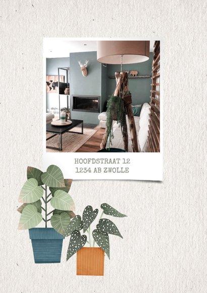 Hippe verhuiskaart huisje boompje plantje met planten 2