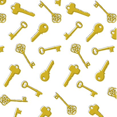 Hippe verhuiskaart met sleutels, typografie en foto 2