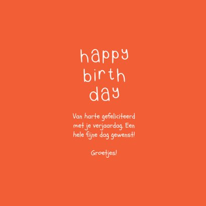 Hippe verjaardagskaart ballonnen typografie 3
