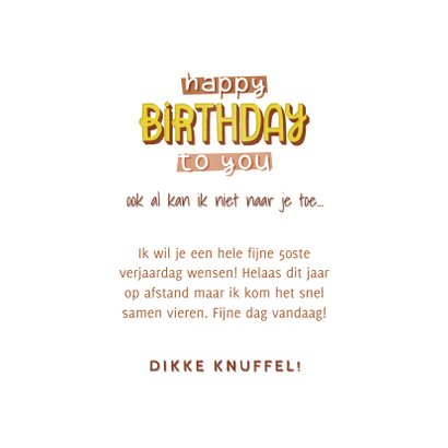 Hippe verjaardagskaart happy birthday to you! typografie 3