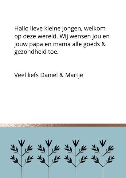 Hippe wenskaart - Welkom lieve jongen 3