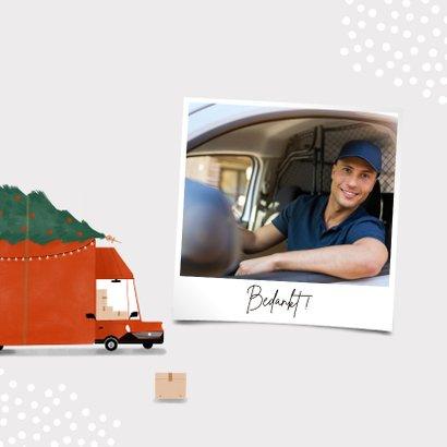 Hippe zakelijke kerstkaart transportbedrijf bus kerstboom 2