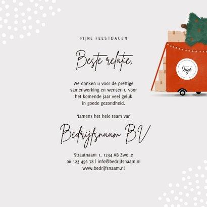 Hippe zakelijke kerstkaart transportbedrijf bus kerstboom 3
