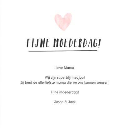 Hipper moederdag handlettering kaart - liefste mama  3
