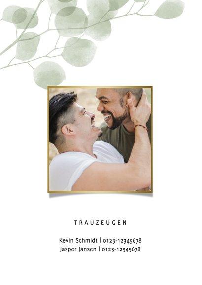 Hochzeitseinladung Eukalyptus 'we say yes' Foto innen 2