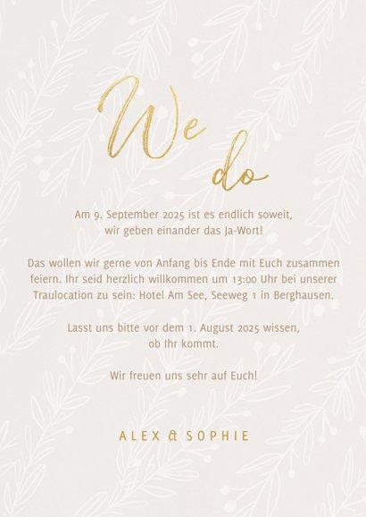 Hochzeitseinladung feine Zweige 3
