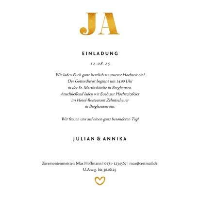 Hochzeitseinladung Goldakzente Fotos Quadrat 3
