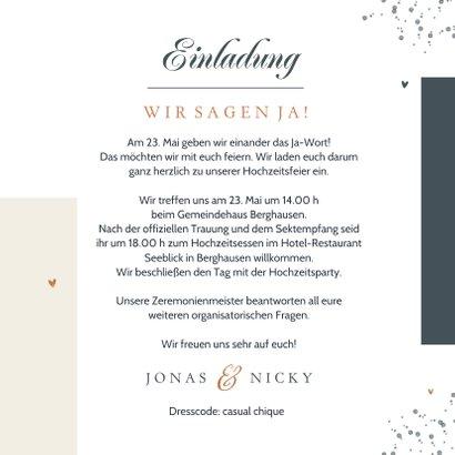 Hochzeitseinladung 'We say yes' grafisch 3