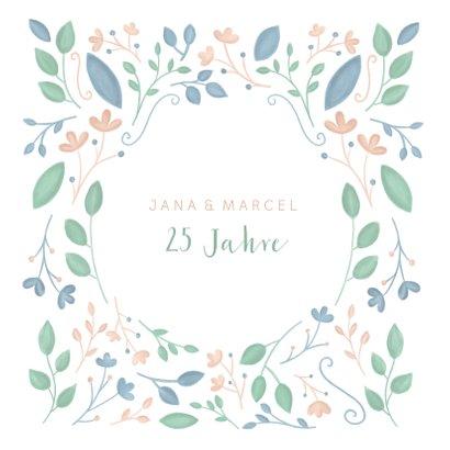 Hochzeitsjubiläum Danksagungskarte Blumen 2