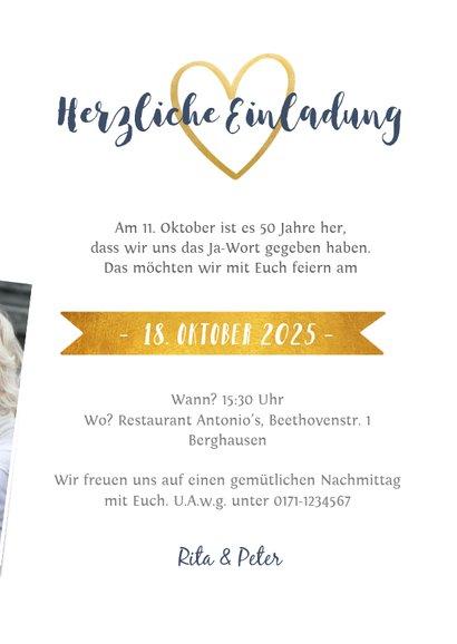 Hochzeitsjubiläum-Einladung Fotocollage  3