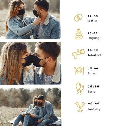 Hochzeitskarte Change-the-Date Foto Pinselstrich 2