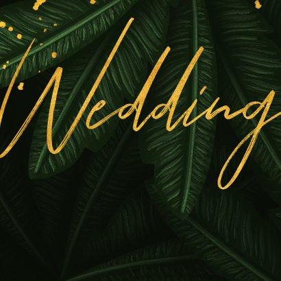 Hochzeitskarte Einladung Gold & Palmen 2