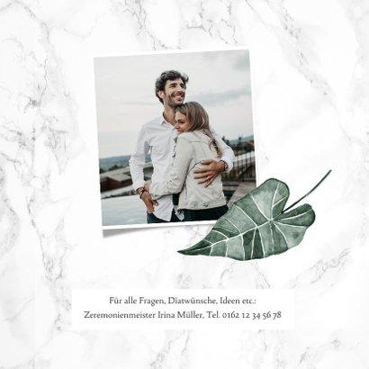 Hochzeitskarte Einladung Marmor & Botanik 2
