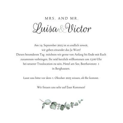 Hochzeitskarte Einladung Marmor & Botanik 3