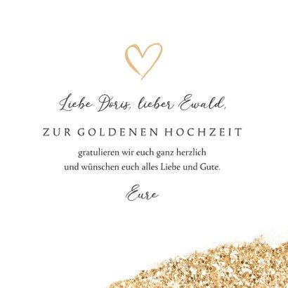 Hochzeitstag Glückwunschkarte 50 goldene Hochzeit 3
