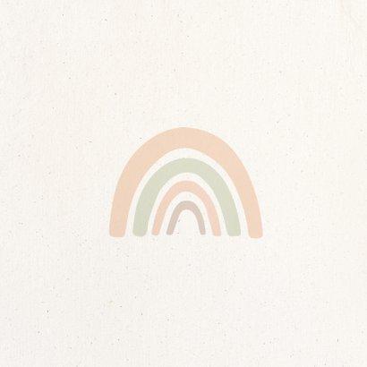 Hoera een meisje regenboog met pastelkleuren 2