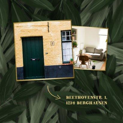 Housewarming Einladung botanisch mit goldener Schrift 2