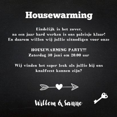 Housewarming krijtbord foto 3