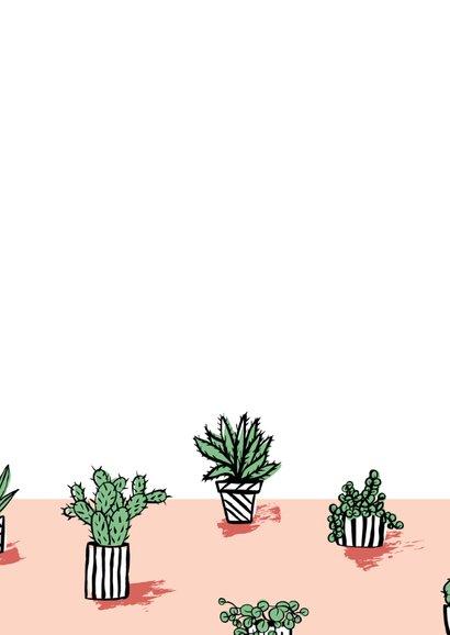 Housewarming uitnodiging gezellige cactus plantjes 2