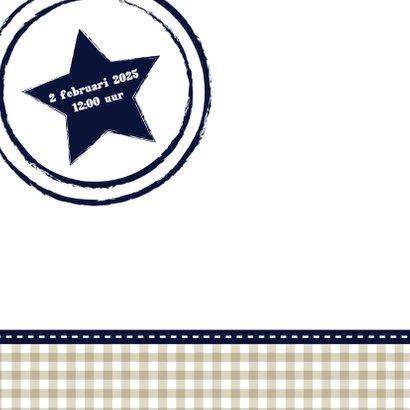 Hout met Label doop blauw - BK 2