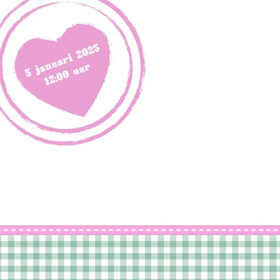 Hout met Label doop roze - BK 2