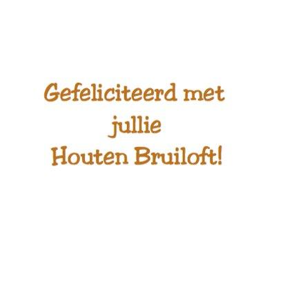 Houten Bruiloft 5 Jaar Getrouwd
