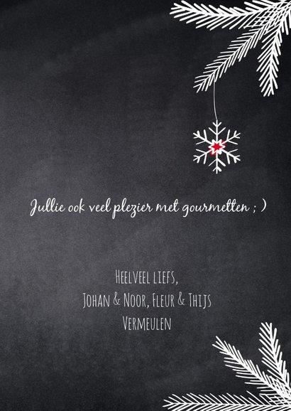 Humoristische kerstkaart, fijne gourmet. 3
