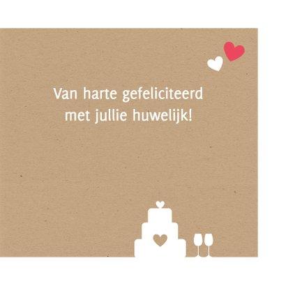 Huwelijk - Groot hart met silhouetten 3
