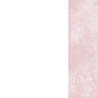 Huwelijk roze hart Achterkant