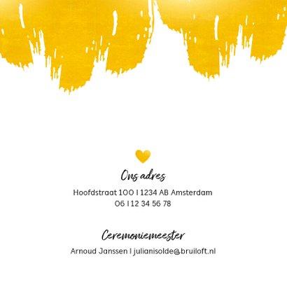 Huwelijk - Verf strepen in goudlook 2