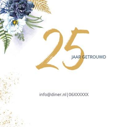 Huwelijksjubileum blauwe rozen foto 2