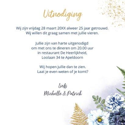 Huwelijksjubileum blauwe rozen foto 3