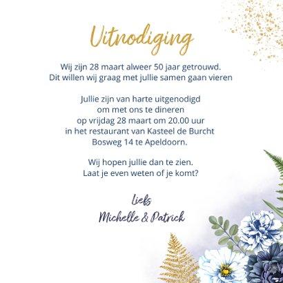 Huwelijksjubileum blauwe rozen 3