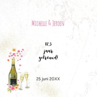 Huwelijksjubileum champagne bloemen 2
