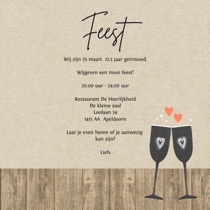 Huwelijksjubileum fles chalkbord 3