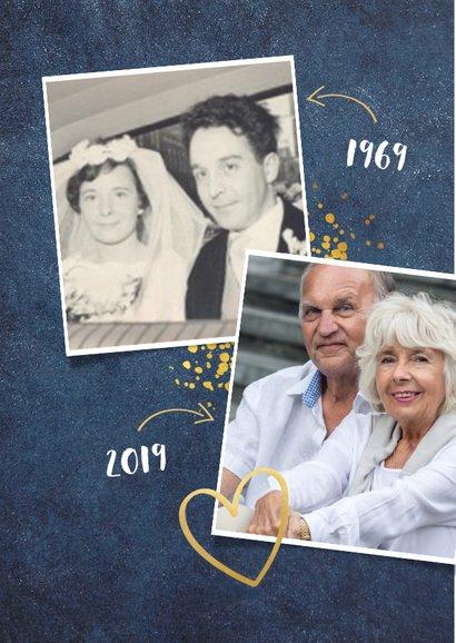Huwelijksjubileum fotocollage uitnodiging feest 50 jaar  2