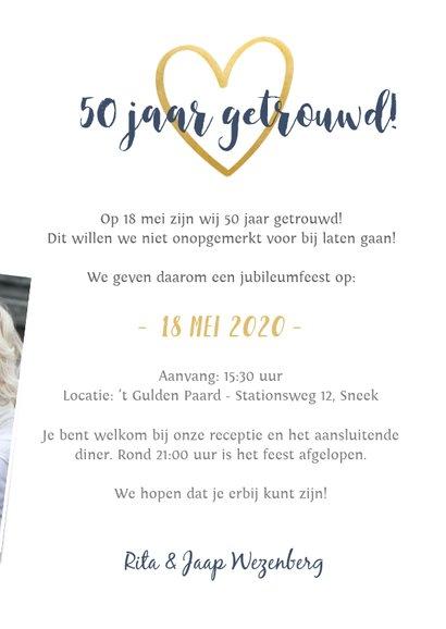 Huwelijksjubileum fotocollage uitnodiging feest 50 jaar  3